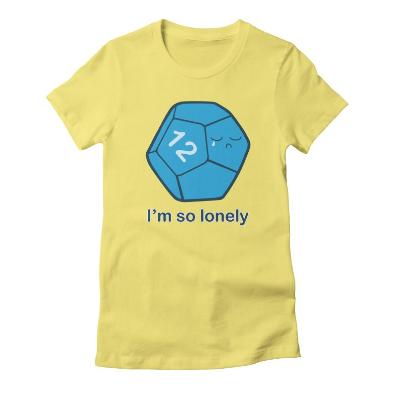 Lonely d12 Women's Fitted T-Shirt by DnDoggos's Artist Shop