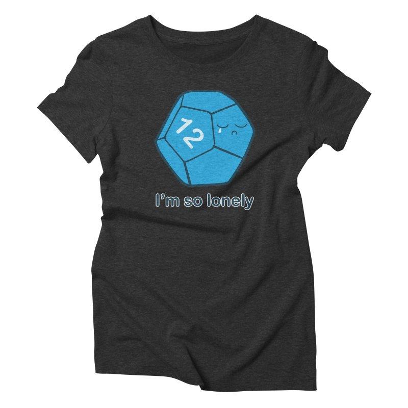 Lonely d12 Women's Triblend T-Shirt by DnDoggos's Artist Shop