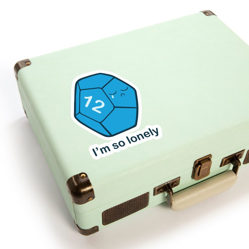 Lonely d12 Accessories Sticker by DnDoggos's Artist Shop
