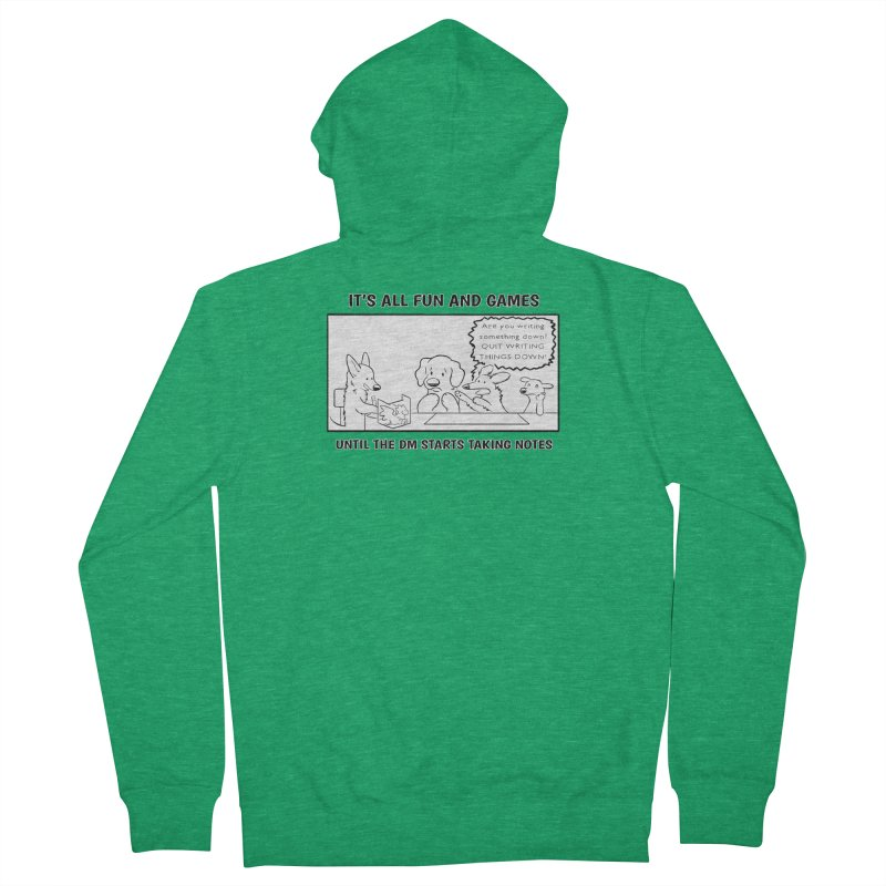 Until The DM Starts Taking Notes Men's Zip-Up Hoody by DnDoggos's Artist Shop