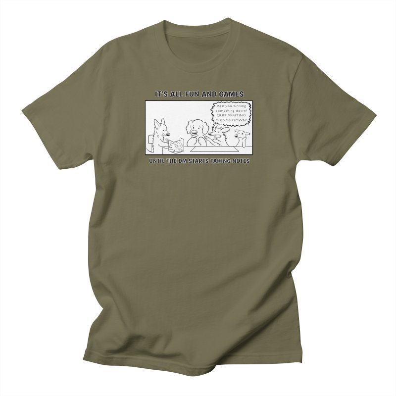 Until The DM Starts Taking Notes Women's T-Shirt by DnDoggos's Artist Shop