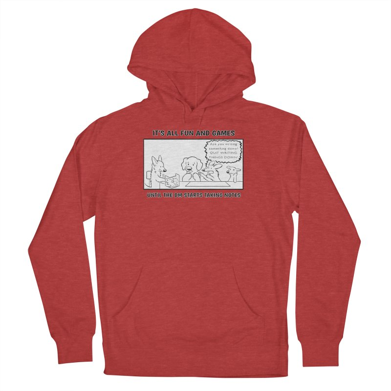 Until The DM Starts Taking Notes Women's French Terry Pullover Hoody by DnDoggos's Artist Shop