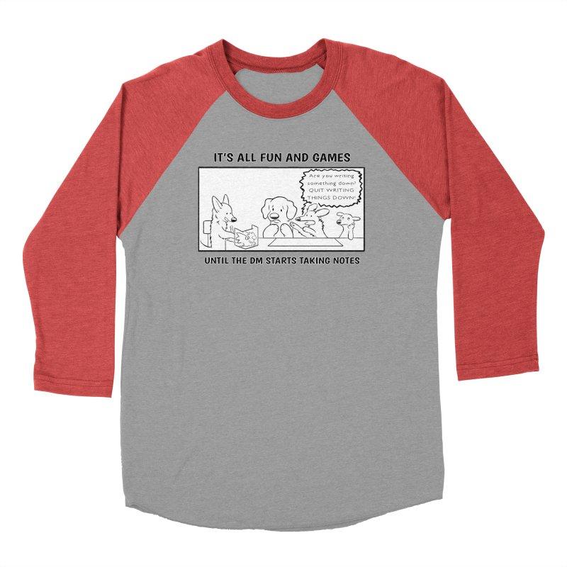 Until The DM Starts Taking Notes Men's Longsleeve T-Shirt by DnDoggos's Artist Shop