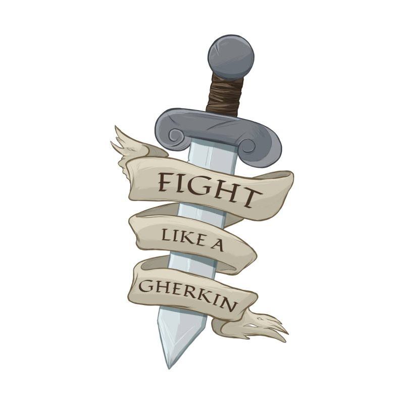 Fight Like a Gherkin Accessories Water Bottle by DnDoggos's Artist Shop