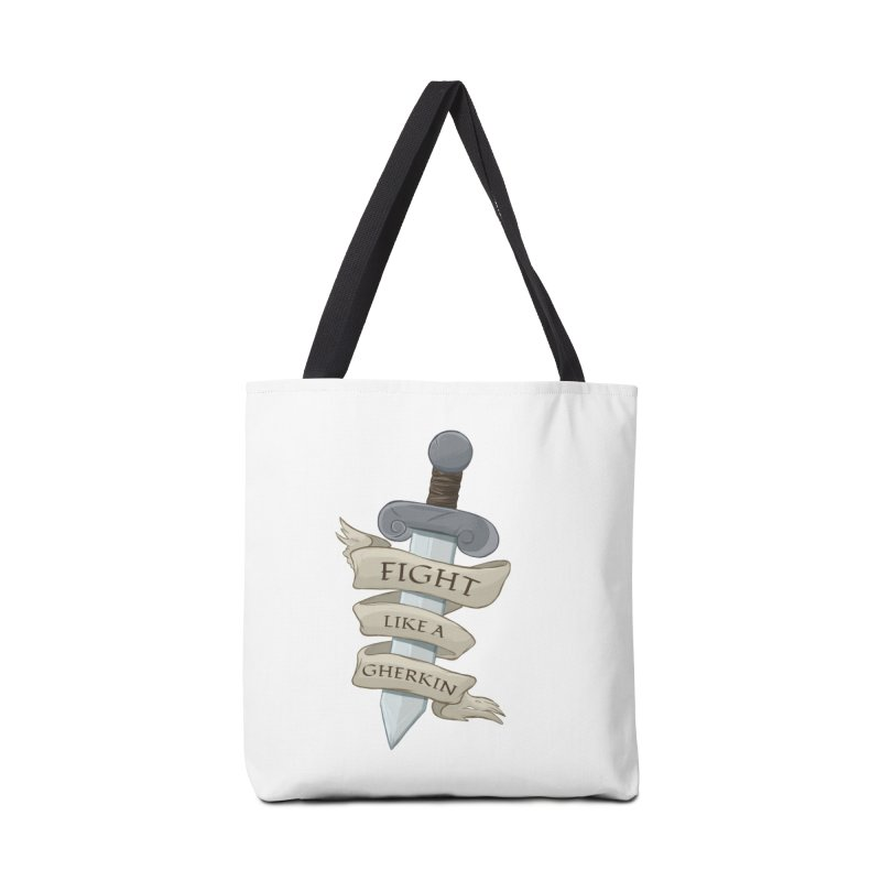 Fight Like a Gherkin Accessories Tote Bag Bag by DnDoggos's Artist Shop