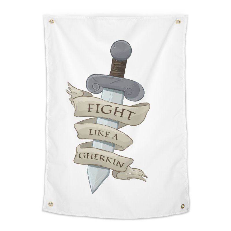 Fight Like a Gherkin Home Tapestry by DnDoggos's Artist Shop