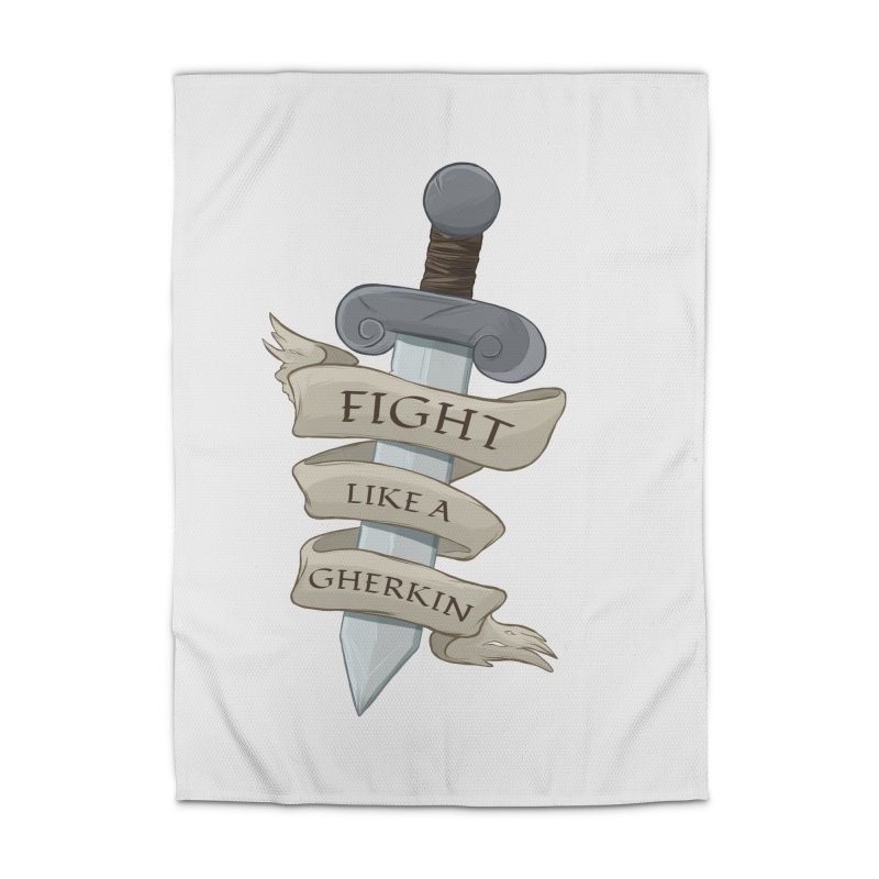 Fight Like a Gherkin Home Rug by DnDoggos's Artist Shop