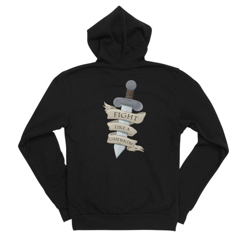 Fight Like a Gherkin Men's Zip-Up Hoody by DnDoggos's Artist Shop