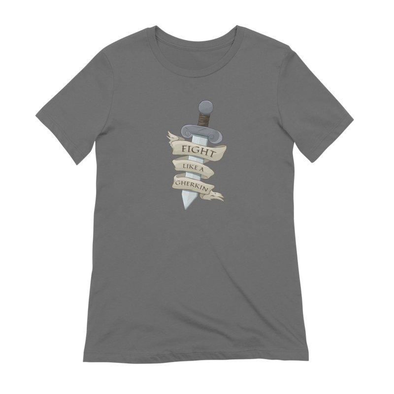 Fight Like a Gherkin Women's Extra Soft T-Shirt by DnDoggos's Artist Shop