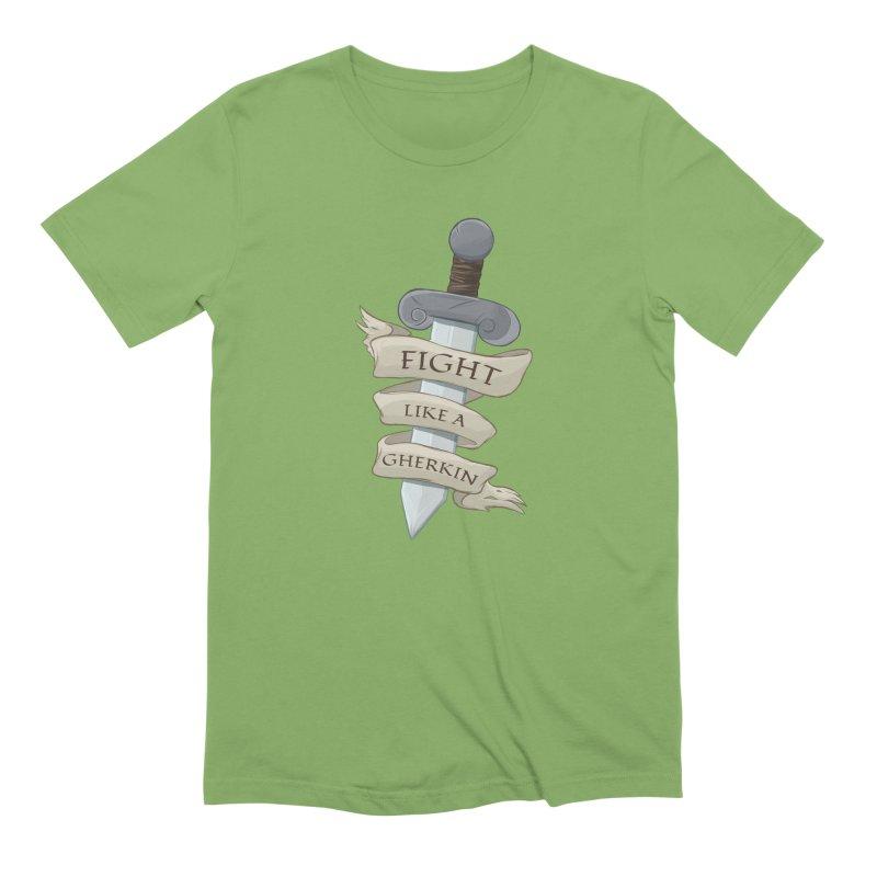 Fight Like a Gherkin Men's Extra Soft T-Shirt by DnDoggos's Artist Shop