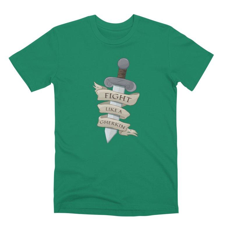 Fight Like a Gherkin Men's Premium T-Shirt by DnDoggos's Artist Shop