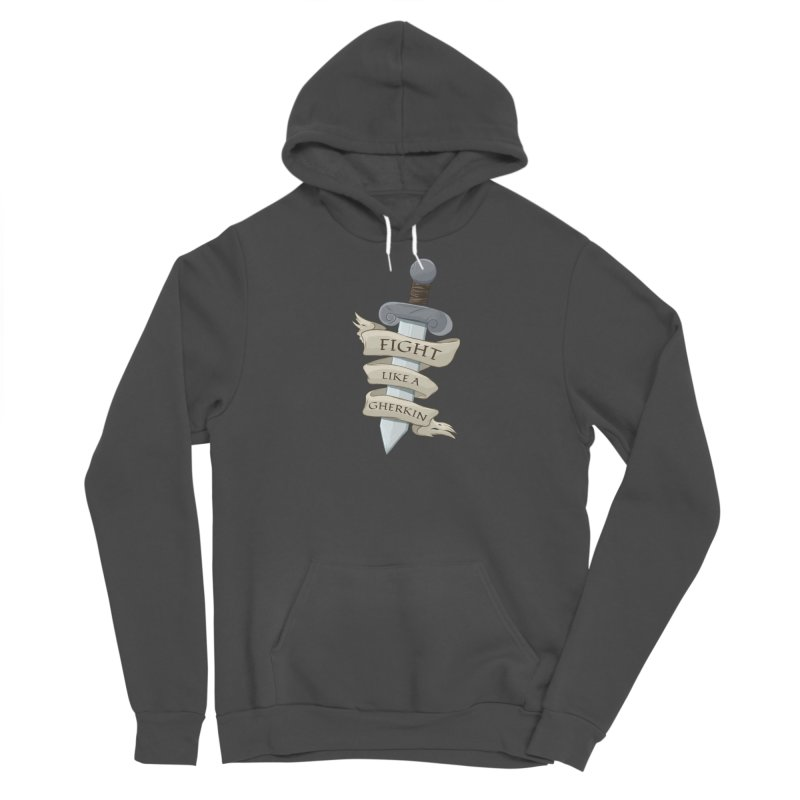 Fight Like a Gherkin Men's Pullover Hoody by DnDoggos's Artist Shop