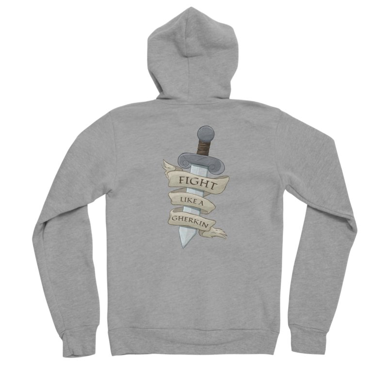 Fight Like a Gherkin Men's Sponge Fleece Zip-Up Hoody by DnDoggos's Artist Shop