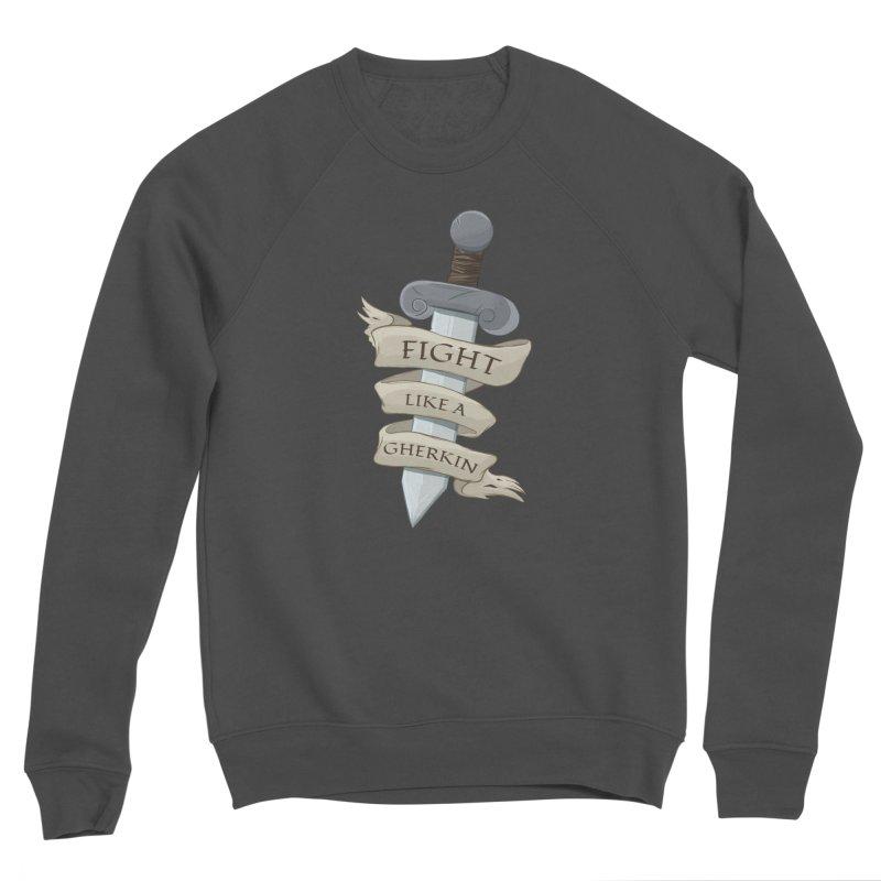 Fight Like a Gherkin Men's Sponge Fleece Sweatshirt by DnDoggos's Artist Shop