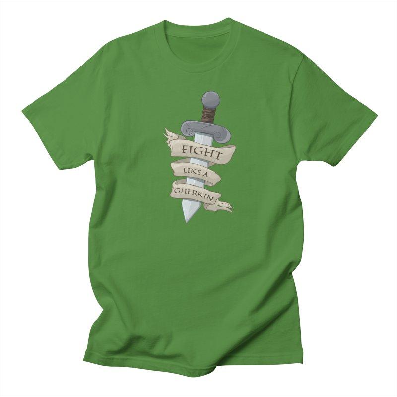 Fight Like a Gherkin Men's T-Shirt by DnDoggos's Artist Shop