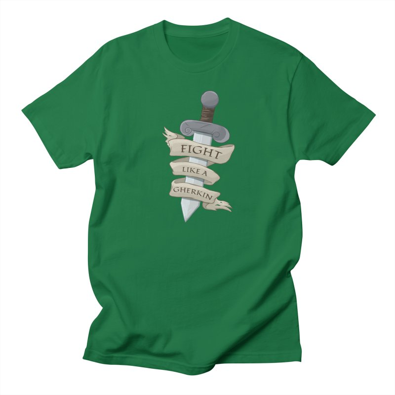 Fight Like a Gherkin Men's T-Shirt by DnDoggos's Artist Shop