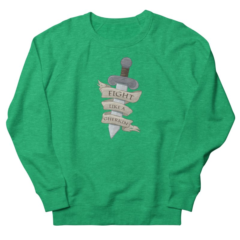 Fight Like a Gherkin Women's Sweatshirt by DnDoggos's Artist Shop