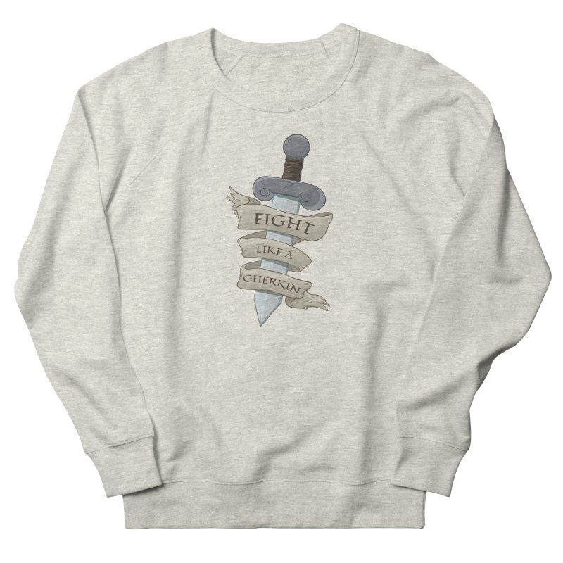 Fight Like a Gherkin Men's Sweatshirt by DnDoggos's Artist Shop