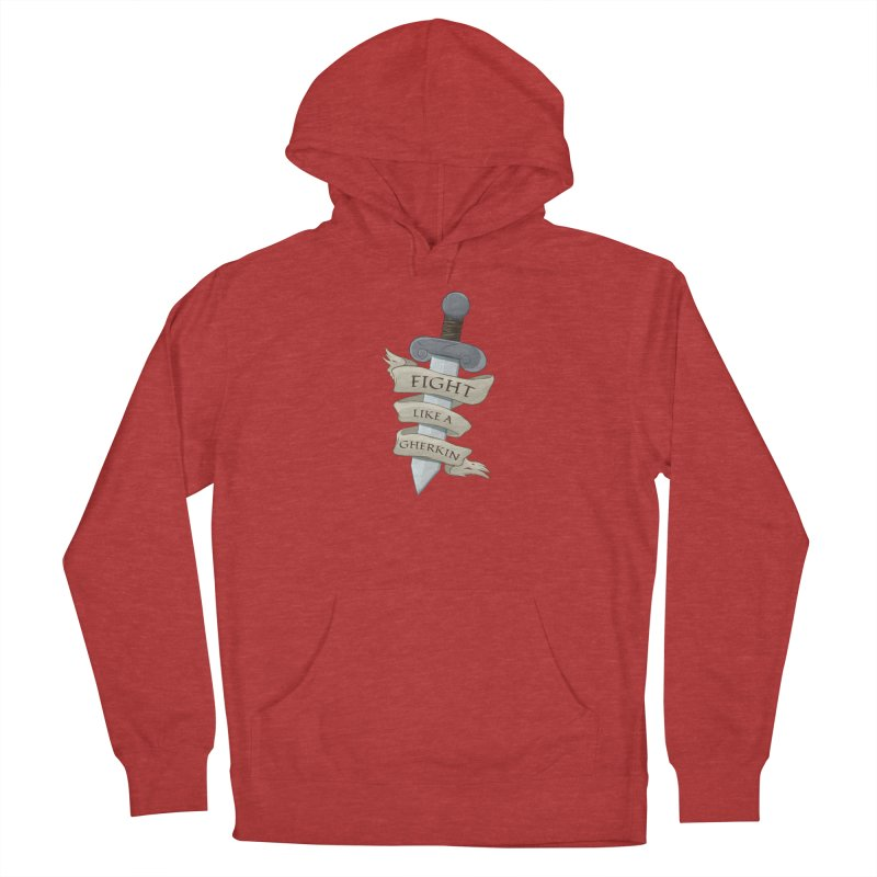 Fight Like a Gherkin Women's French Terry Pullover Hoody by DnDoggos's Artist Shop