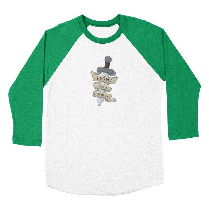Fight Like a Gherkin Men's Baseball Triblend Longsleeve T-Shirt by DnDoggos's Artist Shop