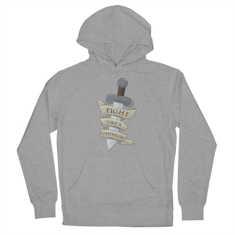Fight Like a Gherkin Men's French Terry Pullover Hoody by DnDoggos's Artist Shop