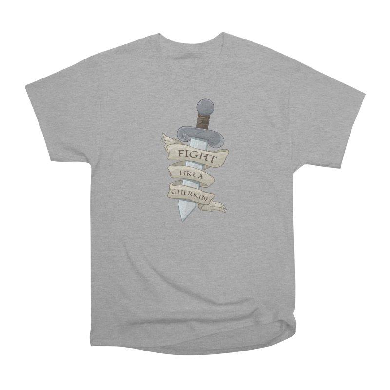 Fight Like a Gherkin Women's Heavyweight Unisex T-Shirt by DnDoggos's Artist Shop