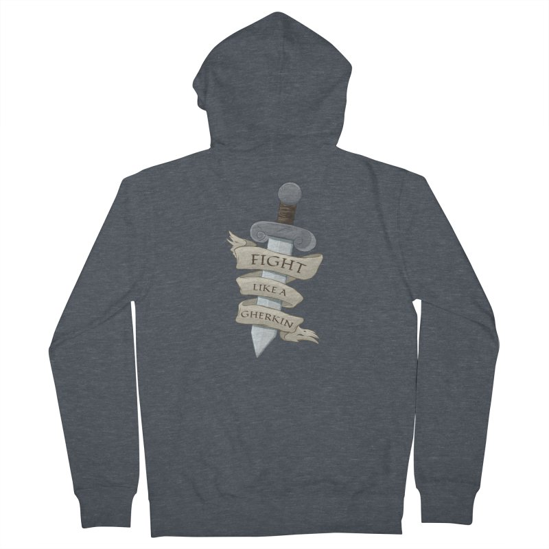 Fight Like a Gherkin Women's French Terry Zip-Up Hoody by DnDoggos's Artist Shop