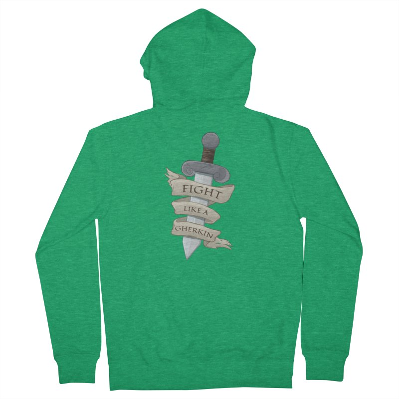 Fight Like a Gherkin Men's Zip-Up Hoody by DnDoggos's Artist Shop