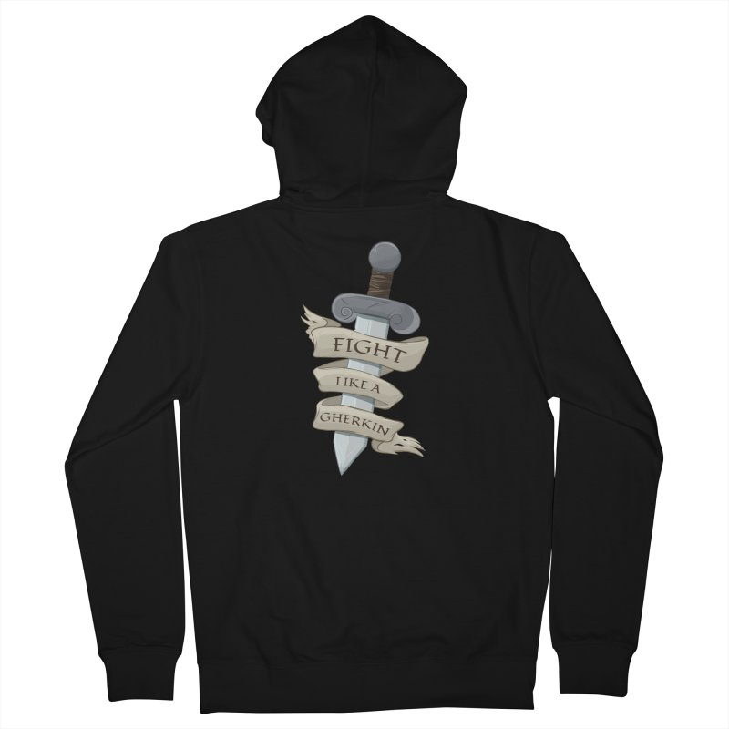 Fight Like a Gherkin Men's French Terry Zip-Up Hoody by DnDoggos's Artist Shop