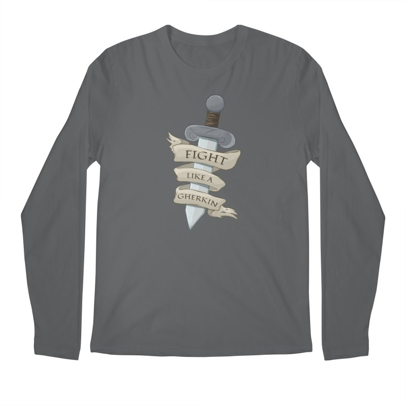 Fight Like a Gherkin Men's Longsleeve T-Shirt by DnDoggos's Artist Shop