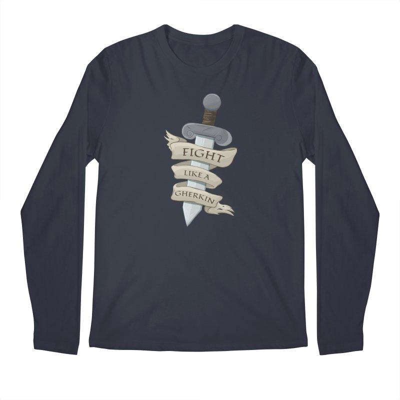 Fight Like a Gherkin Men's Regular Longsleeve T-Shirt by DnDoggos's Artist Shop