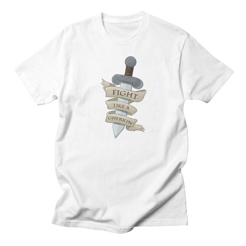 Fight Like a Gherkin Women's Regular Unisex T-Shirt by DnDoggos's Artist Shop
