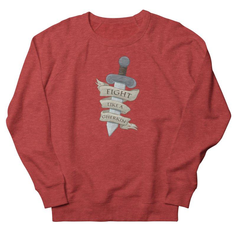 Fight Like a Gherkin Women's French Terry Sweatshirt by DnDoggos's Artist Shop