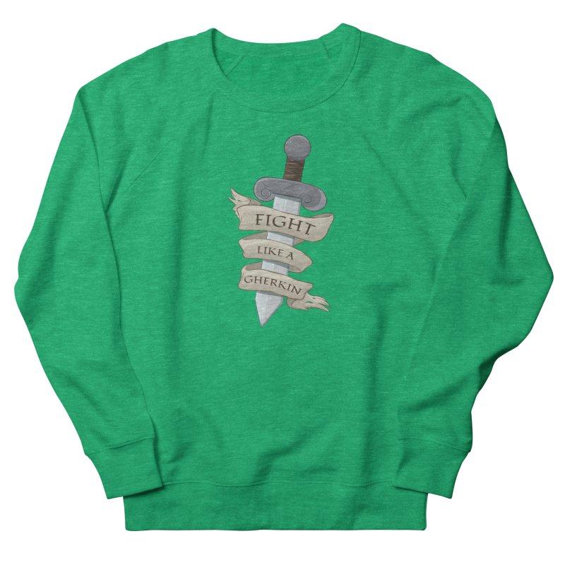 Fight Like a Gherkin Men's Sweatshirt by DnDoggos's Artist Shop