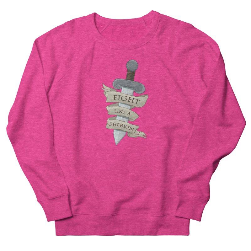 Fight Like a Gherkin Men's French Terry Sweatshirt by DnDoggos's Artist Shop