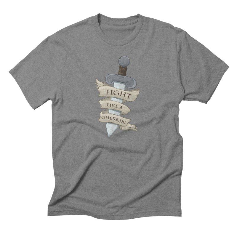 Fight Like a Gherkin Men's Triblend T-Shirt by DnDoggos's Artist Shop