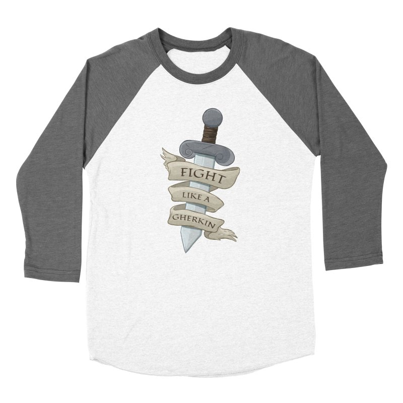 Fight Like a Gherkin Women's Longsleeve T-Shirt by DnDoggos's Artist Shop