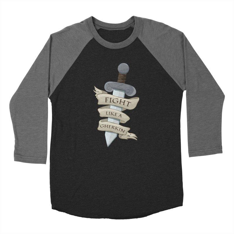 Fight Like a Gherkin Women's Baseball Triblend Longsleeve T-Shirt by DnDoggos's Artist Shop