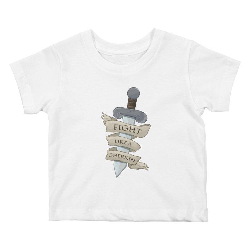 Fight Like a Gherkin Kids Baby T-Shirt by DnDoggos's Artist Shop