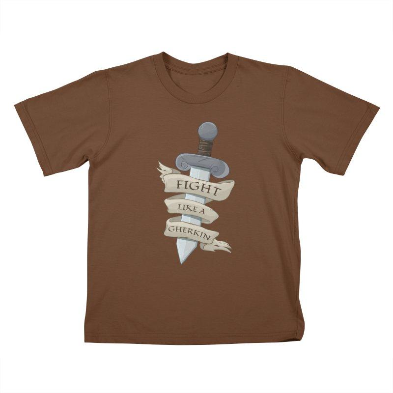 Fight Like a Gherkin Kids T-Shirt by DnDoggos's Artist Shop