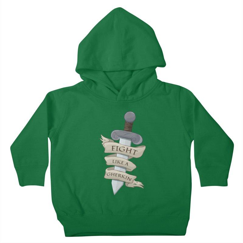 Fight Like a Gherkin Kids Toddler Pullover Hoody by DnDoggos's Artist Shop