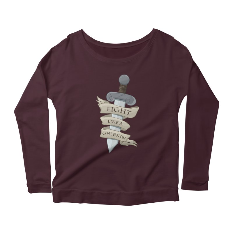 Fight Like a Gherkin Women's Scoop Neck Longsleeve T-Shirt by DnDoggos's Artist Shop