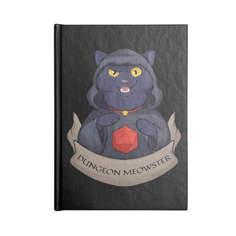 Dungeon Meowster Black Kitty Accessories Lined Journal Notebook by DnDoggos's Artist Shop