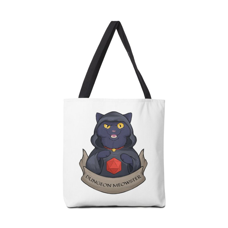 Dungeon Meowster Black Kitty Accessories Tote Bag Bag by DnDoggos's Artist Shop