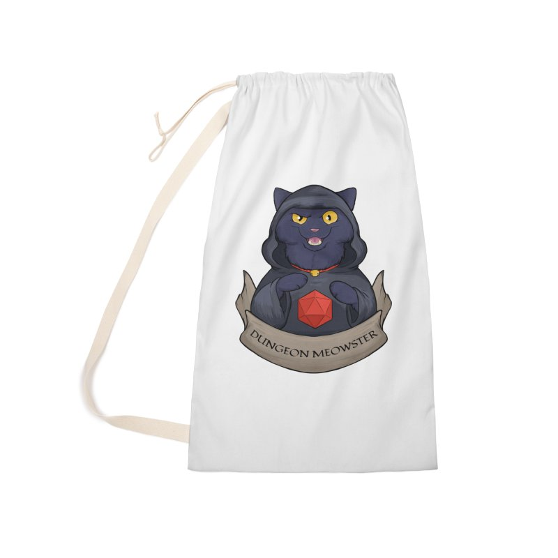 Dungeon Meowster Black Kitty Accessories Laundry Bag Bag by DnDoggos's Artist Shop