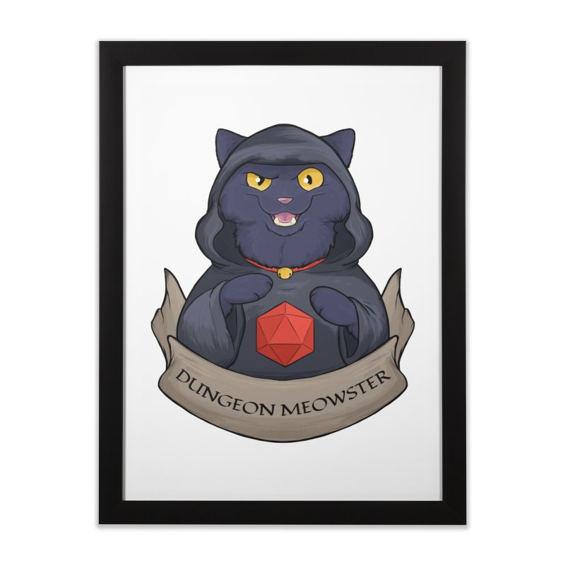 Dungeon Meowster Black Kitty Home Framed Fine Art Print by DnDoggos's Artist Shop