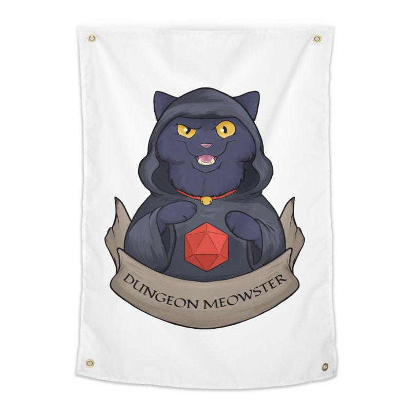 Dungeon Meowster Black Kitty Home Tapestry by DnDoggos's Artist Shop