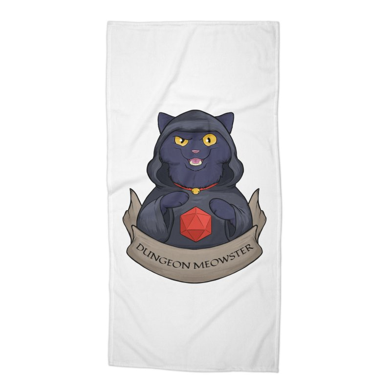 Dungeon Meowster Black Kitty Accessories Beach Towel by DnDoggos's Artist Shop