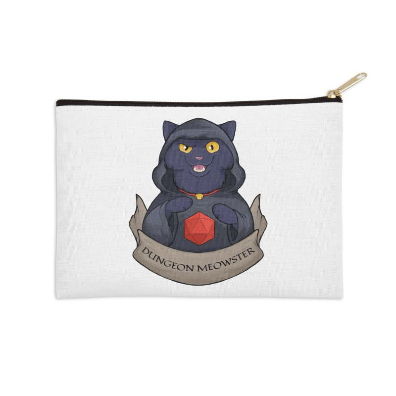 Dungeon Meowster Black Kitty Accessories Zip Pouch by DnDoggos's Artist Shop