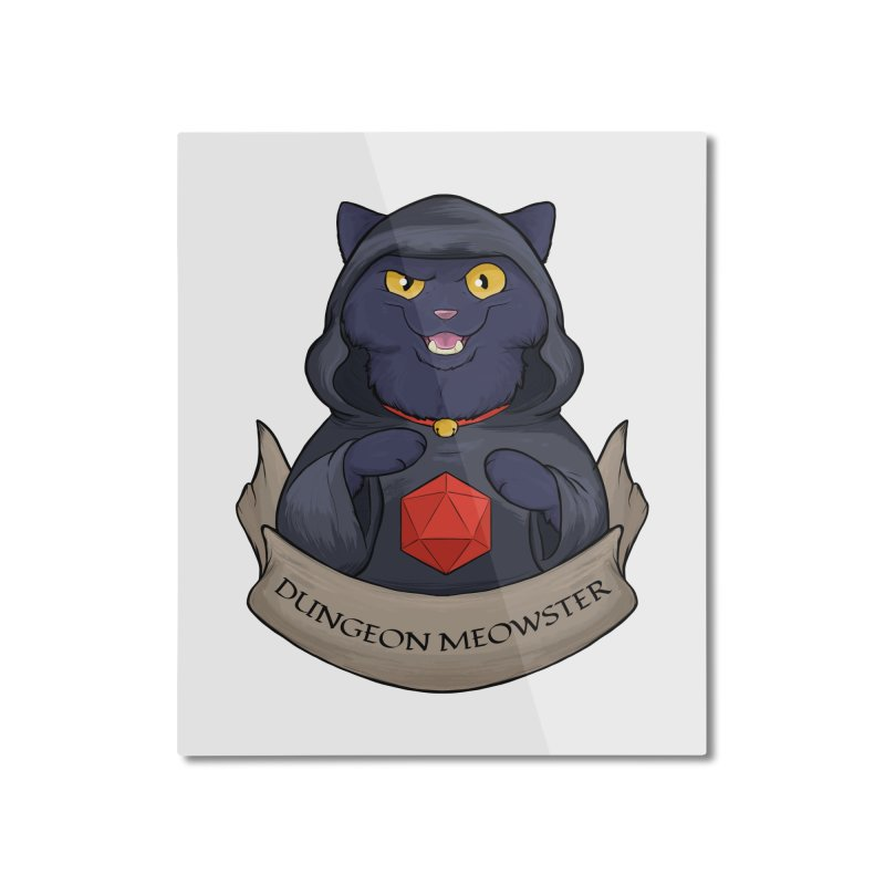 Dungeon Meowster Black Kitty Home Mounted Aluminum Print by DnDoggos's Artist Shop